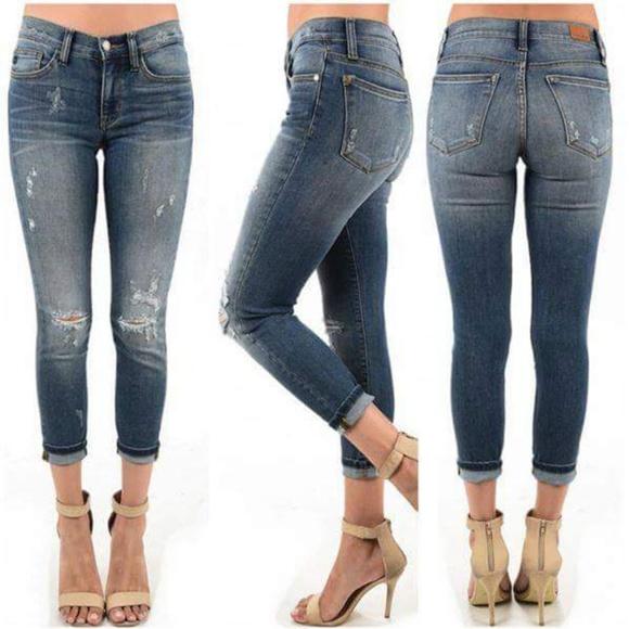 e1d5da6f5f5 Relaxed Boyfriend Skinny Jeans 🌵 PLUS SIZE. Boutique. Judy Blue